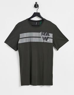 G-Star - Raw – Graues T-Shirt mit Bahnendesign