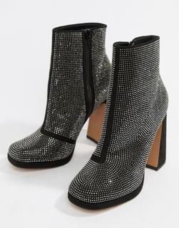 ASOS DESIGN - Emira embellished platform boots