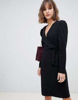 Vero Moda - wrap mini dress in black
