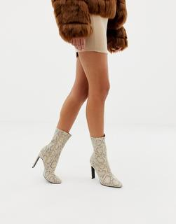 SIMMI Shoes - Simmi London snake effect pointed ankle boots