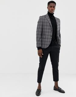 Jack & Jones - Premium Suit Jacket In Slim Fit Grey Check