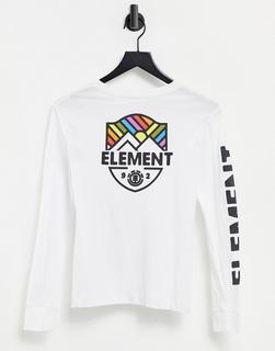 Element - Beamin – Langärmliges Shirt in Weiß