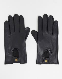 ASOS DESIGN - ASOS - Schwarze Lederhandschuhe für Autofahrer - Schwarz