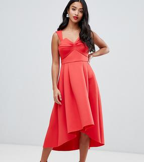 ASOS Petite - ASOS DESIGN Petite Ruched Bodice Midi Prom Dress