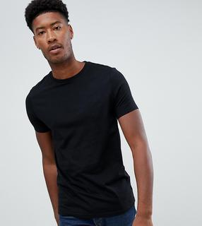 ASOS DESIGN - Tall organic t-shirt with crew neck in black