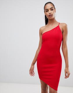 AX Paris - Figurbetontes Kleid mit einem Träger - Rot - 18.99 €