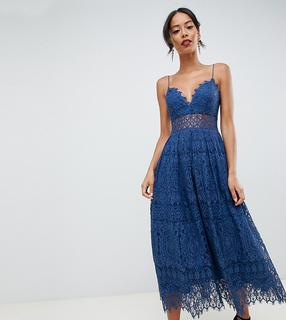 ASOS Tall - ASOS DESIGN Tall lace cami midi prom dress