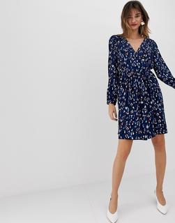 Vero Moda - abstract leopard print wrap mini dress