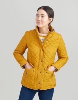 Joules Clothing - Caramel Newdale Quilted Coat  Size 16