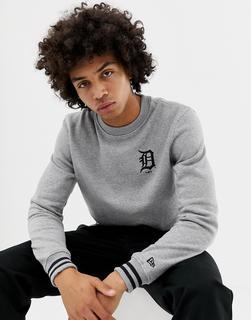 New Era - MLB Detroit Tigers – Graues Sweatshirt mit kleinem Logo