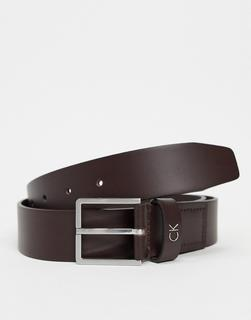 Calvin Klein - Mino leather belt in brown