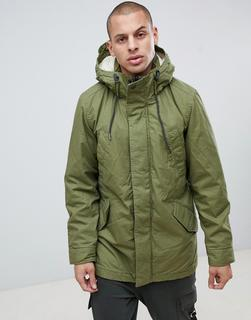 G-Star - Vodan teddy lined parka in green