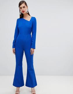 UNIQUE21 - Unique 21 – Asymmetrischer, langärmliger Jumpsuit-Blau