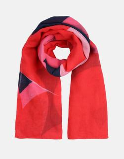 Joules Clothing - NAVY VALENTINES HEART Atmore Oversized Square Cotton Scarf  Size One Size