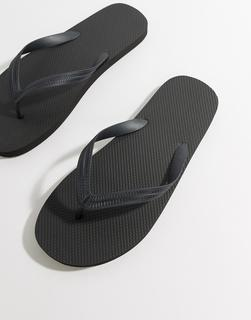 ASOS DESIGN - flip flops in black