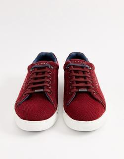 TED BAKER - Werill trainers in burgundy