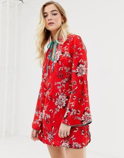 Glamorous - Geblümtes Hemdkleid - Rot