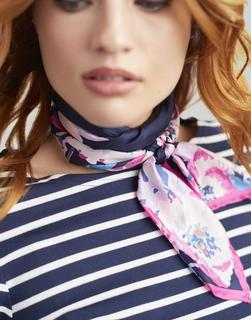 Joules Clothing - NAVY FLORAL Bloomfield Silk Scarf  Size One Size