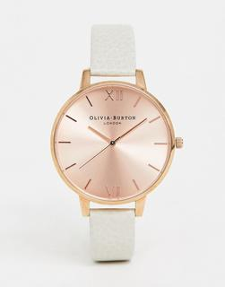 Olivia Burton - OB13BD11 Sunray big dial leather watch in cream