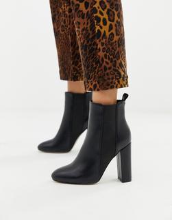 SIMMI Shoes - Simmi – London Heidi – Schwarze Stiefeletten mit Blockabsatz