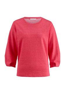 hessnatur - Damen Sweatshirt aus Leinen mit Bio-Baumwolle – lila – Größe 44