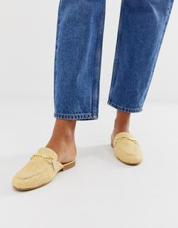 ASOS DESIGN - Moves mule loafers in natural weave