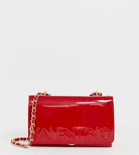 Valentino by Mario Valentino - patent cross body bag in red