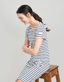 Joules Clothing - Riviera long Short Sleeve Jersey Dress
