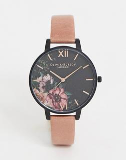 Olivia Burton - OB15FS60 floral leather watch in pink