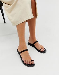 ASOS DESIGN - Freedom toe loop flat sandals