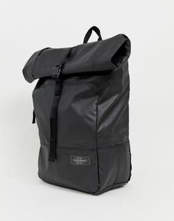 EASTPAK - Macnee 24l roll top coated backpack in black