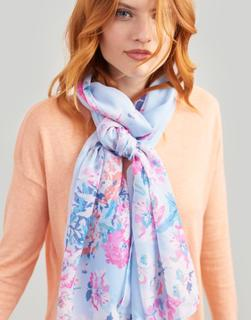 Joules Clothing - Blue Border Floral Wensley Printed Scarf  Size One Size
