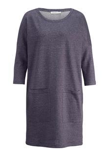 hessnatur - Damen Kleid aus Leinen mit Bio-Baumwolle – lila – Größe 46