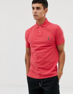 Polo Ralph Lauren - slim fit pique polo in red