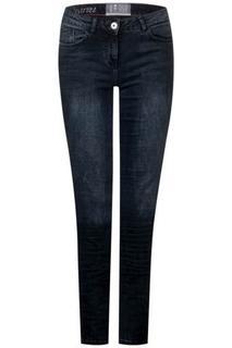 CECIL - Tight Fit Denim Charlize - blue/black used wash