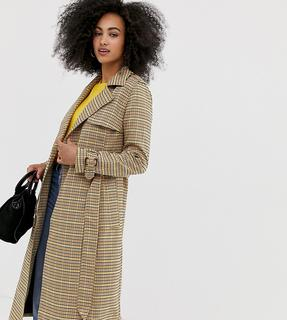 Warehouse - trench coat in check