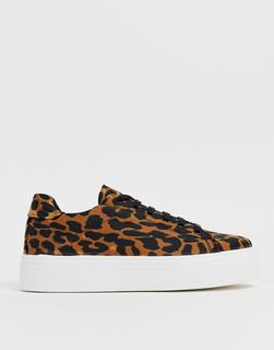 ASOS DESIGN - Day Light chunky lace up trainers in leopard print