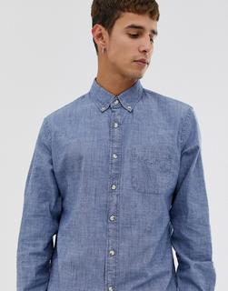 J.Crew Mercantile - stretch chambray shirt in blue