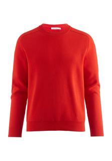 hessnatur - Herren Pullover aus Bio-Baumwolle – rot – Größe 54