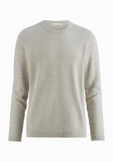 hessnatur - Herren Pullover aus Bio-Baumwolle mit Seide und Leinen – grün – Größe 50