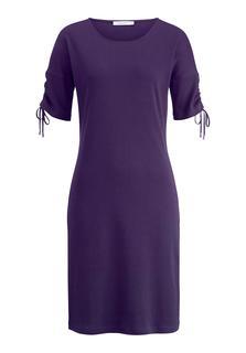 hessnatur - Damen Kleid aus Bio-Baumwolle – lila – Größe 42