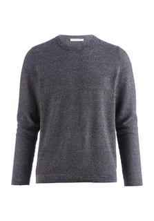 hessnatur - Herren Pullover aus Bio-Baumwolle mit Seide und Leinen – lila – Größe 50