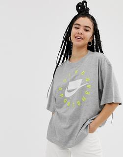 Nike - Grey Nsw Logo T-Shirt