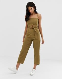ASOS DESIGN - strappy pinny belted jumpsuit