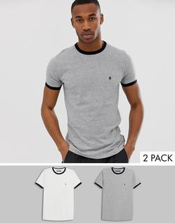 French Connection - 2er-Pack Ringer-T-Shirts-Mehrfarbig