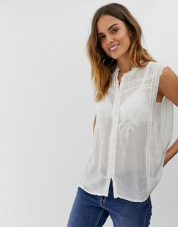 Naf Naf - sleeveles laced shirt