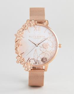 Olivia Burton - OB16CB13 Case Cuff mesh watch in rose gold