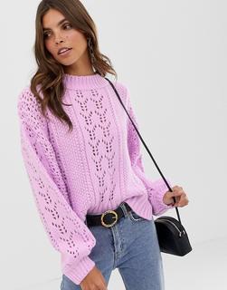 ASOS DESIGN - open stitch jumper in fluffy yarn