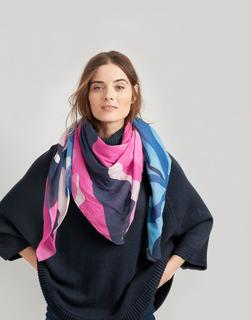 Joules Clothing - Atmore Oversized Square Cotton Scarf