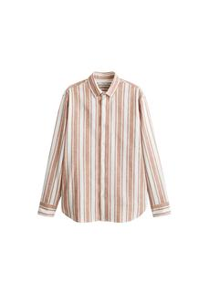 MANGO MAN - Regular fit-hemd aus baumwolle mit leinen
